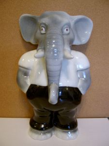 Carlton Ware Rising Hawk Pot Belly Elephant Money Box - 1970s - SOLD
